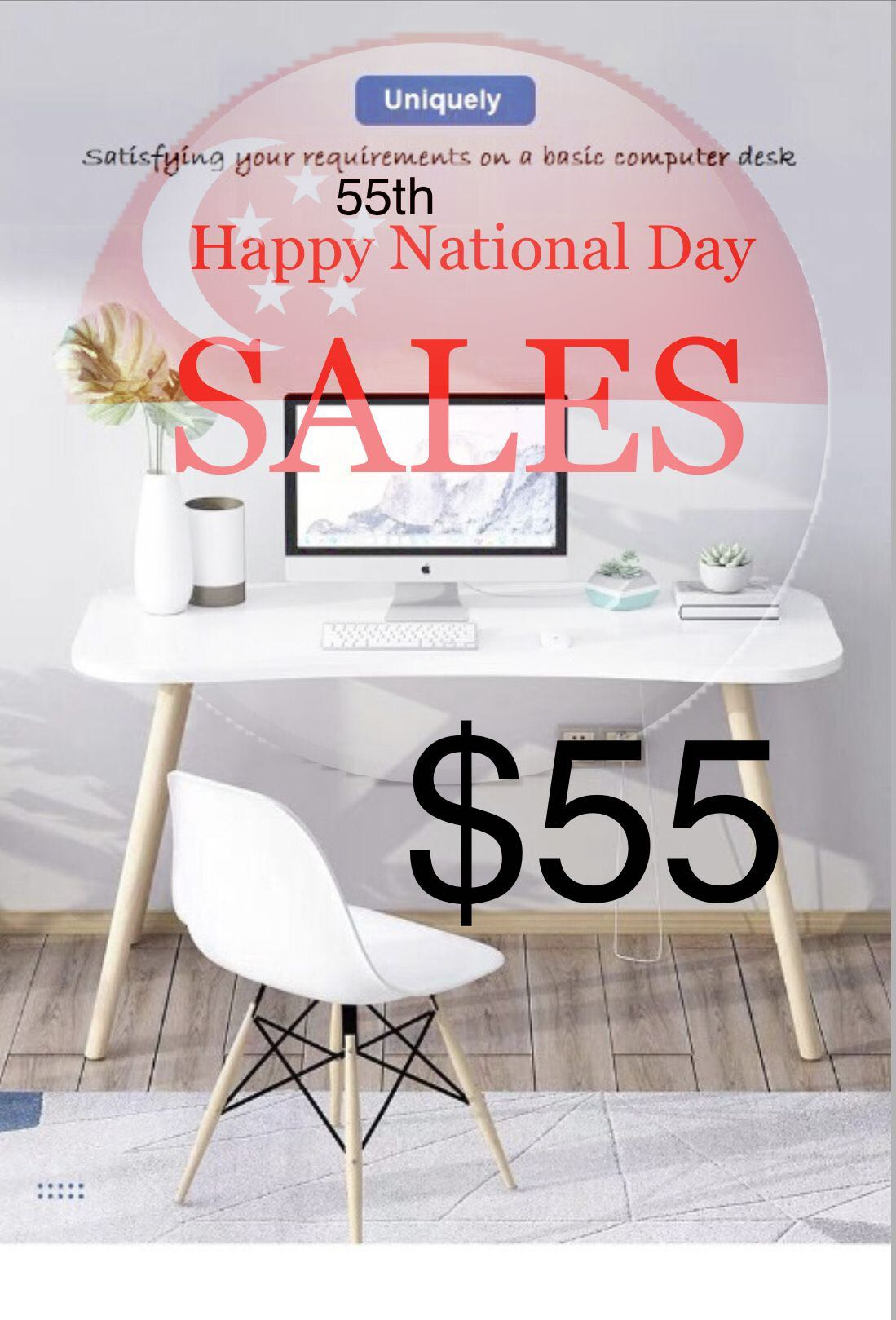 Sold Out 55 Simple Home Office Desk Study Table Furniture Tables Chairs On Carousell