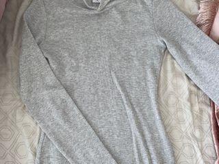TNA waffle knit hooded mini dress