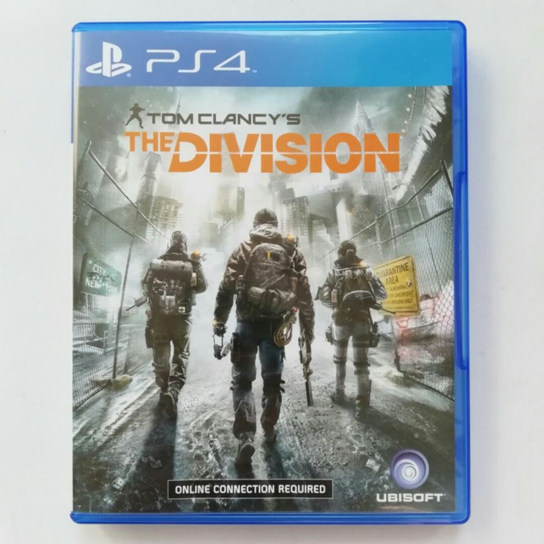 Tom Clancy's The Division PS4 Original CD Kaset Playstation 4 BD