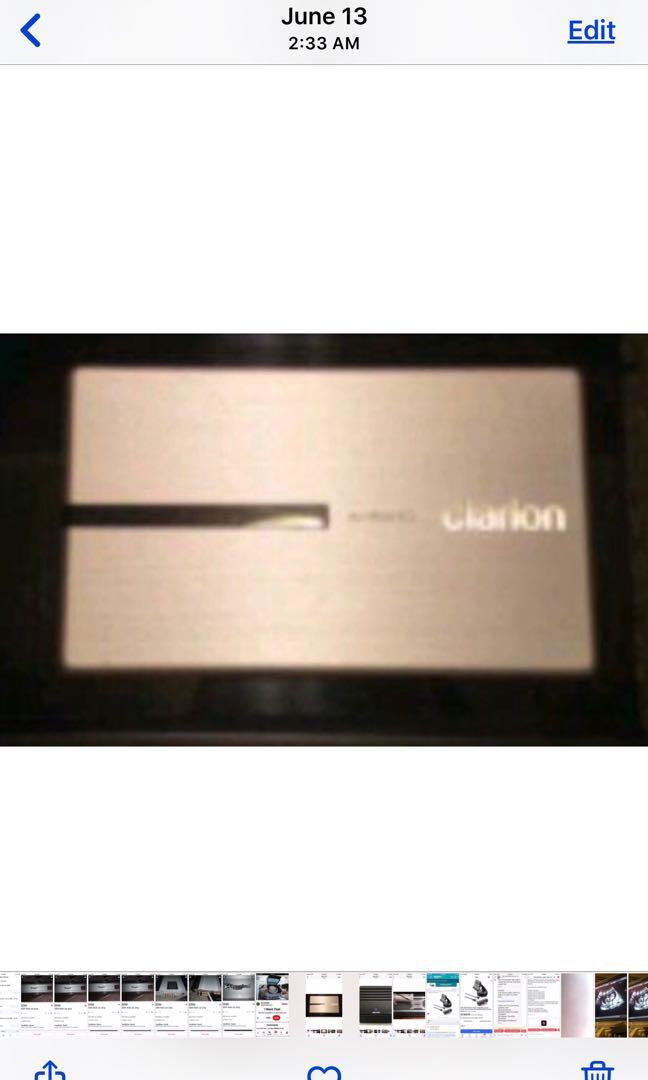 1200 watt 5ch Clarion Amplifier