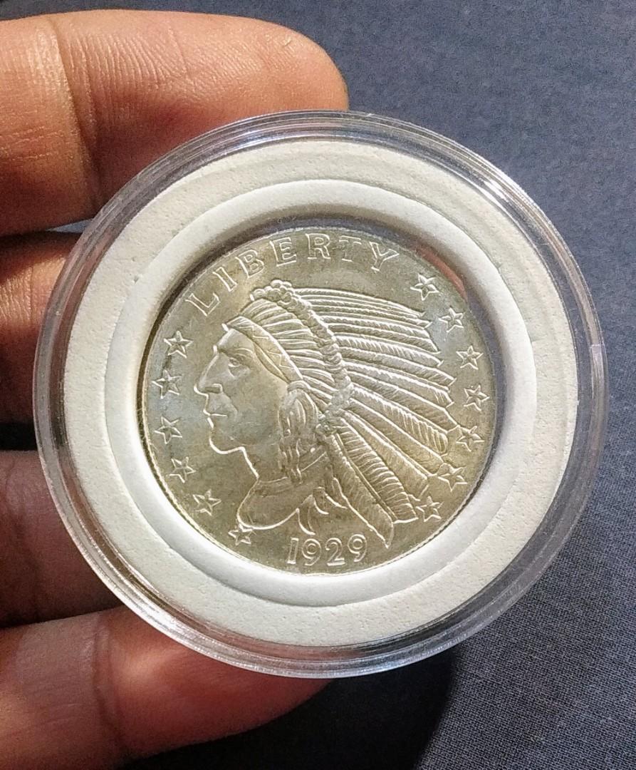 "25 /""Indian Head/"" 1//4 oz .999 Copper Rounds Quarter Oz Rounds"