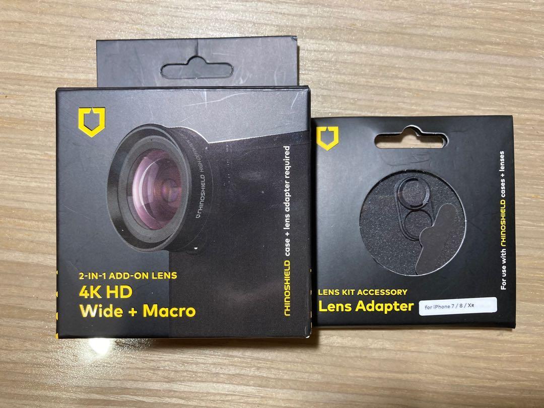 犀牛盾4K HD廣角鏡頭+鏡頭環