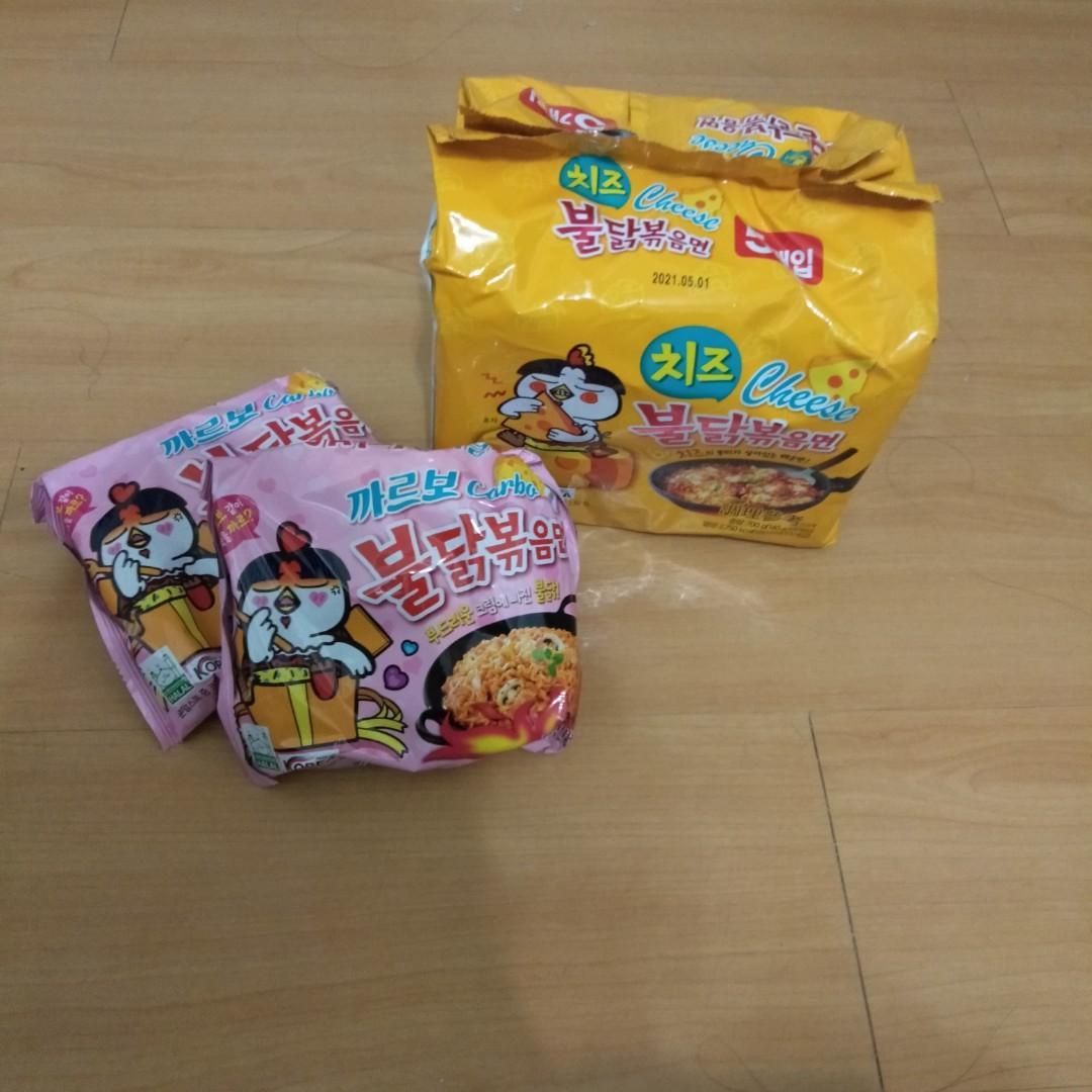 韓國辣雞起司泡麵5包(附贈兩包粉色奶油口味)
