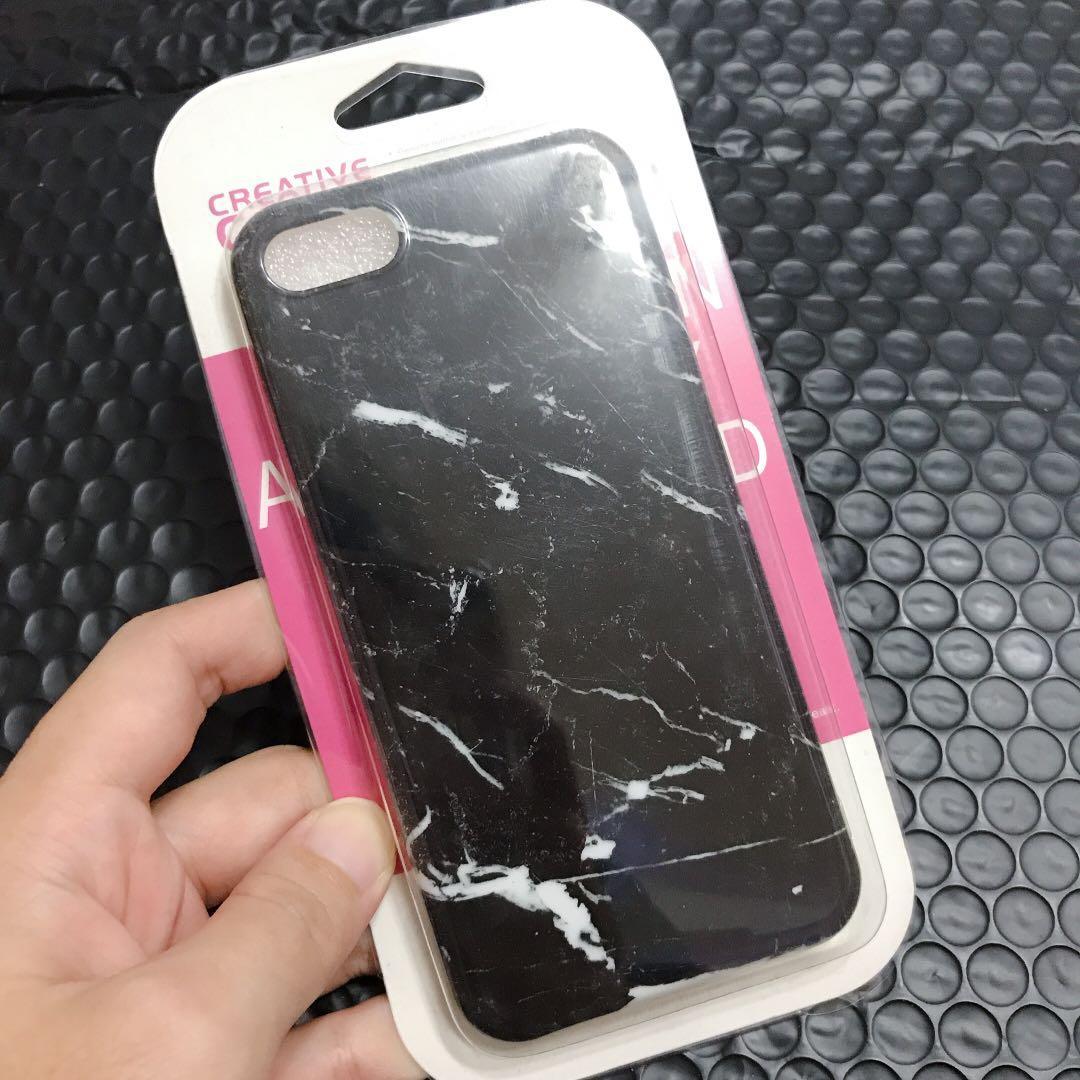 5折🔥簡約 大理石紋 Apple iphone7 手機保護殼 軟殼 全包