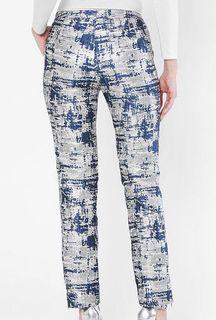 Aere Plaena Pencil Pants in Blue Silver