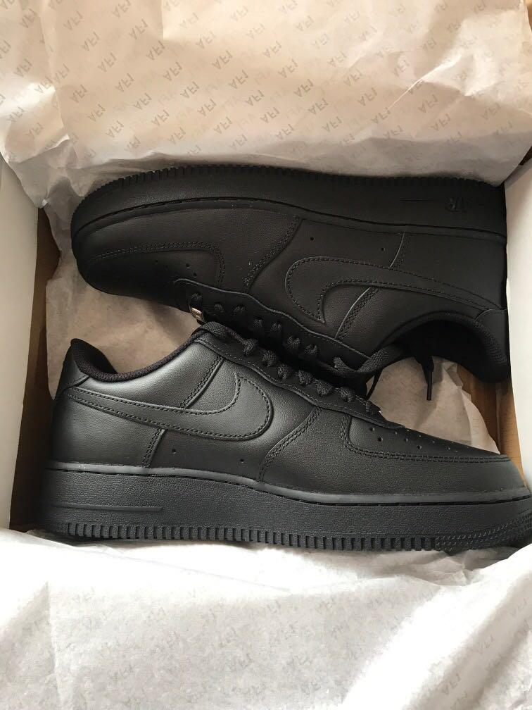 Black Airforce 1s size 9.5 BRAND NEW