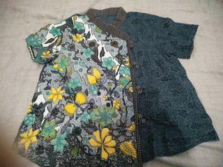 Blus Batik Modern Preloved Wanita Free Size Kantor/Pesta