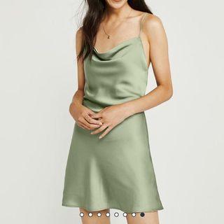 BRAND NEW Abercrombie Satin Cowl Neck Dress