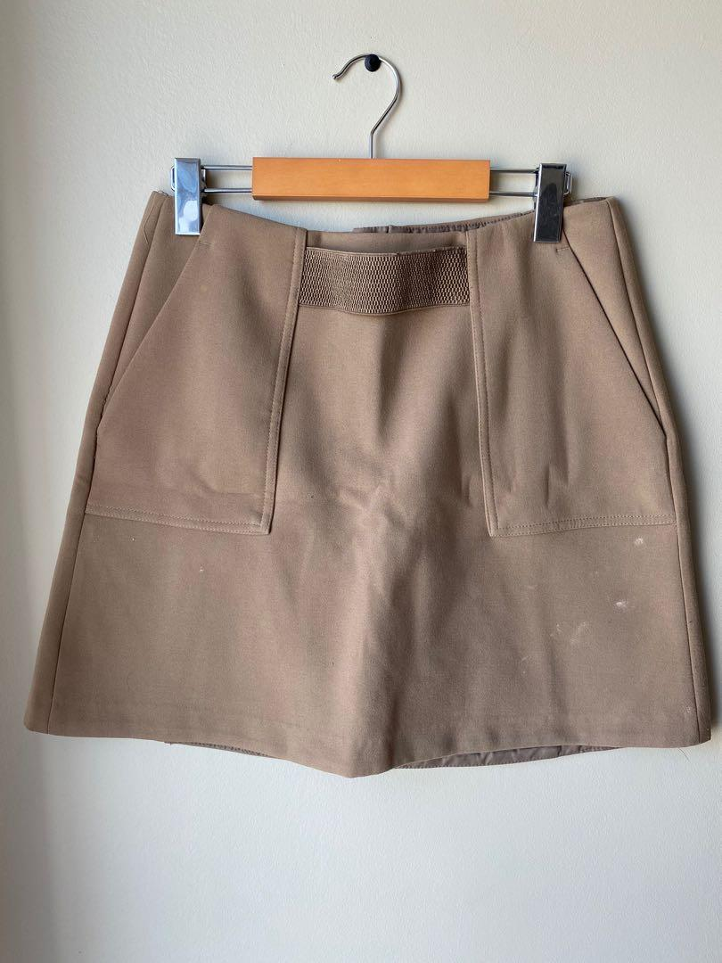 Brown/taupe skirt with pockets