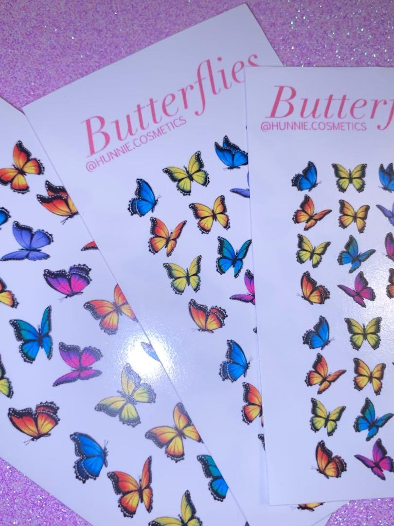 Butterfly nail decals (for acrylic and gel nails)