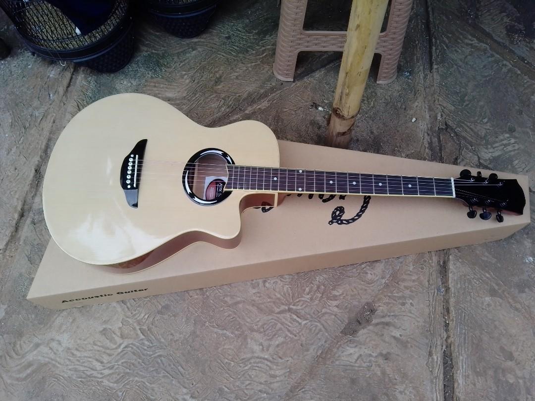 Gitar akustik apx natural baru