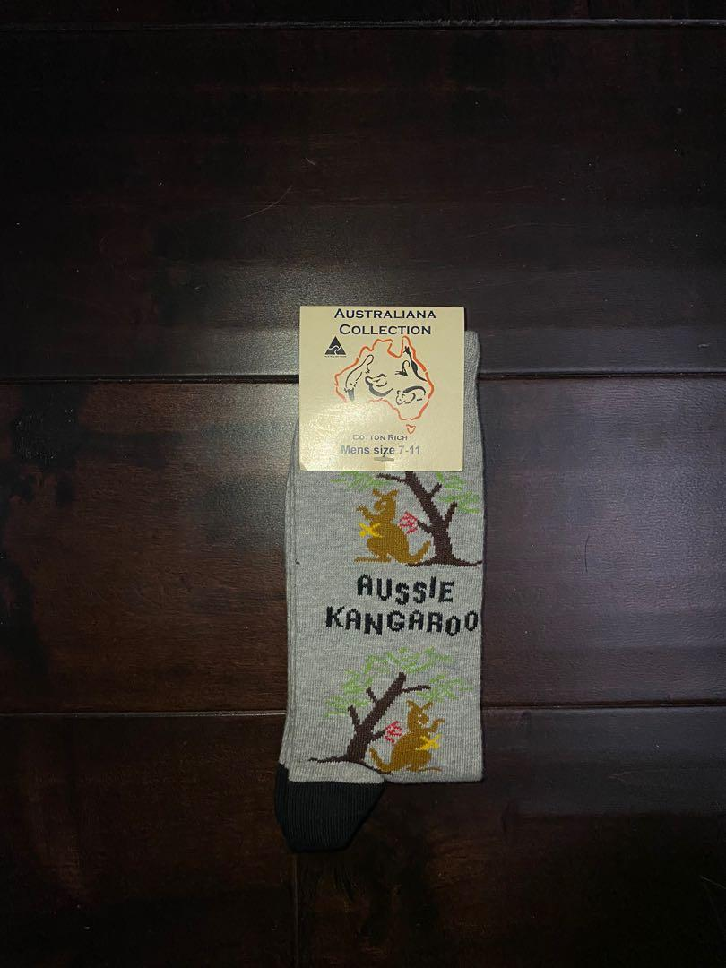 Grey Aussie Kangaroo Socks