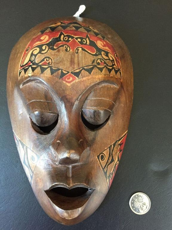 Hand Painted/Carved Wooden Mask