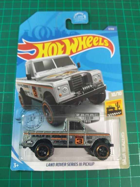 2020 Hot Wheels Case J Tan SHORT CARD HB21 Land Rover Series III