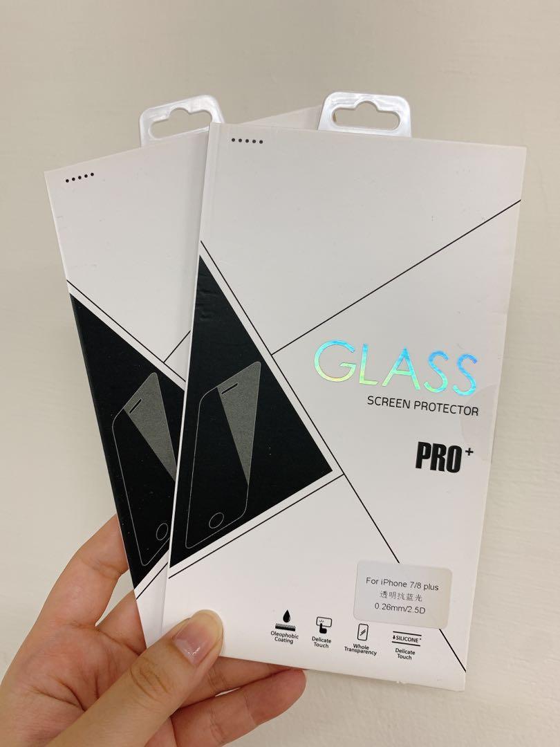 iPhone 7/8 plus抗藍光螢幕保護貼 2組