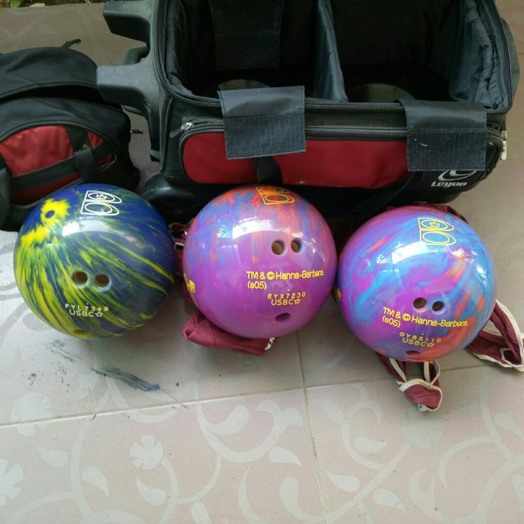 Jual bola bowling baru 3 kali pakai