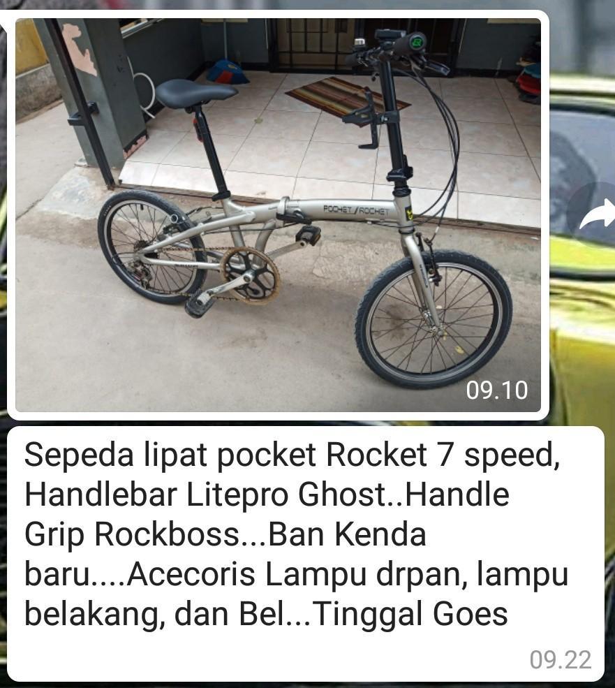 Jual sepeda lipat bekas berkwalitas..