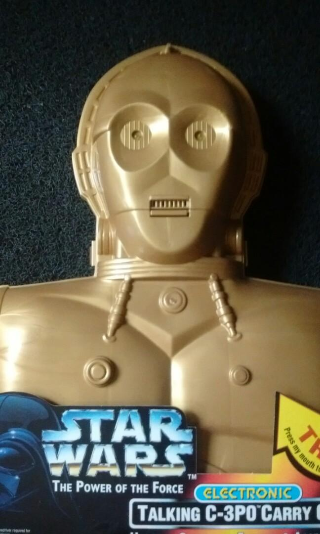 Kenner 1996 Star Wars The Power of the force. C-3PO TALKING CARRY CASE