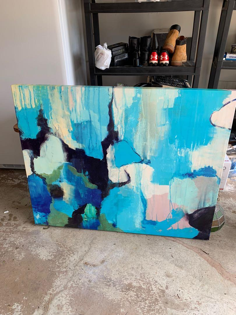 Large abstract canvas art