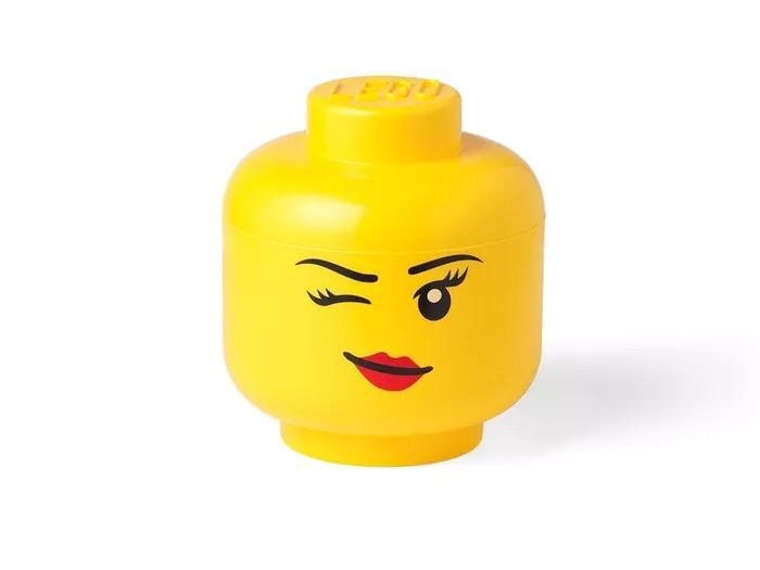 Lego head storage L winking