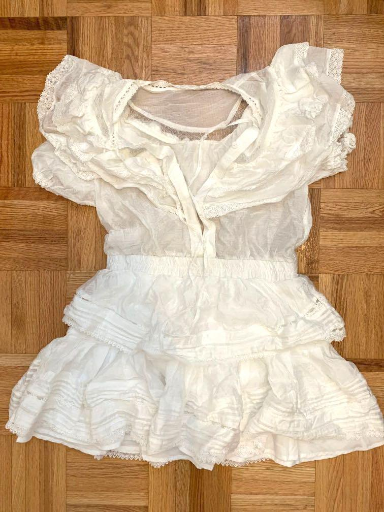 loveshackfancy/aritzia dupe ruffle puff sleeve dress