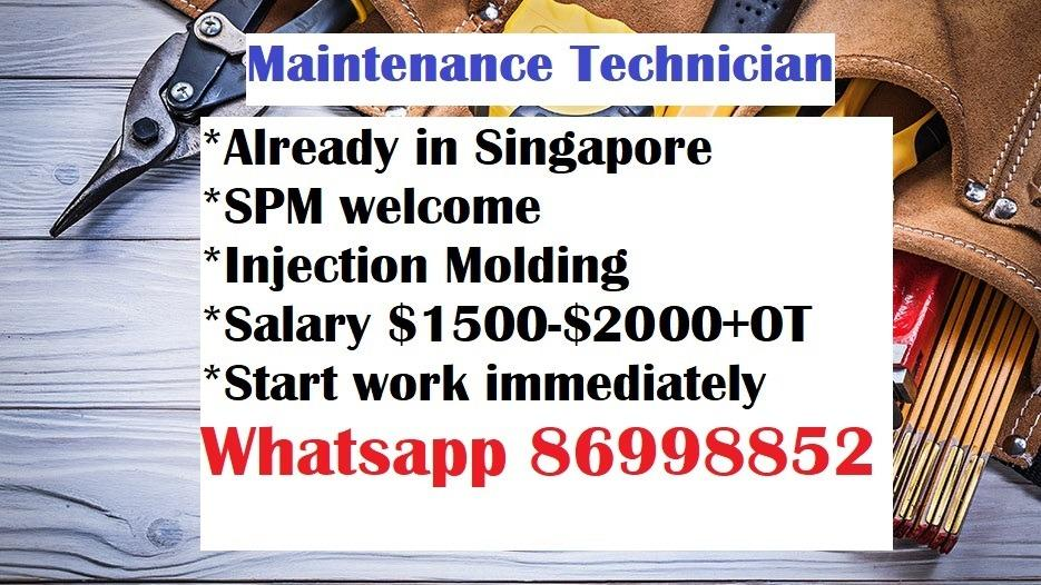 Maintenance Technician, Injection Molding, SPM welcome