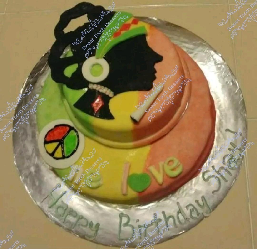 One love cake. Jamaica cake
