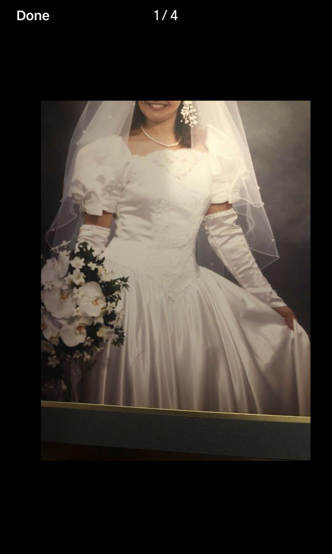 One Of A Kind Professionally Sealed Wedding Dress 9-10 FIRM