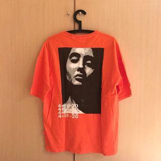 街頭亮橘色oversize T