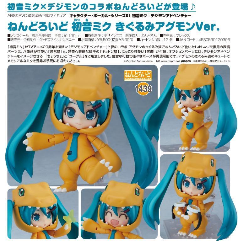 [Pre-Order] Good Smile Company Nendoroid No.1439 Hatsune Miku: Kigurumi Agumon Ver.