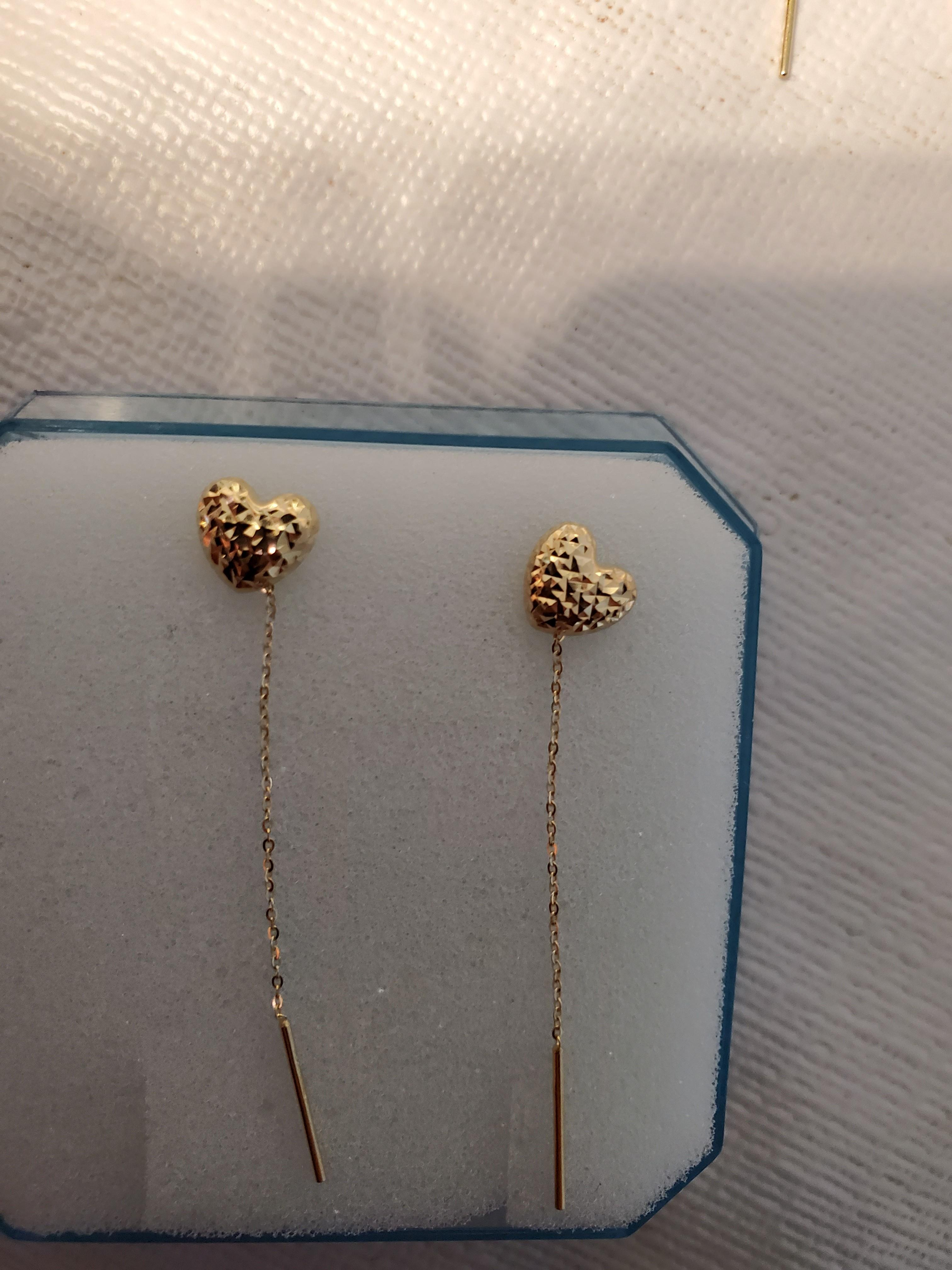 Real saudi gold earrings