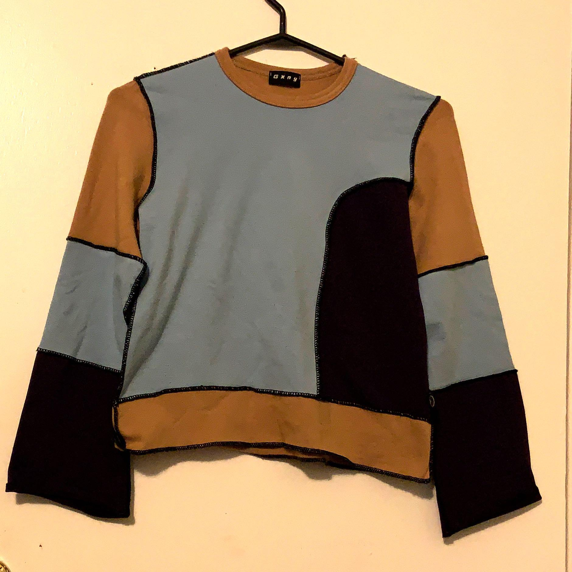 REWORK STYLE PATCH WORK TOP