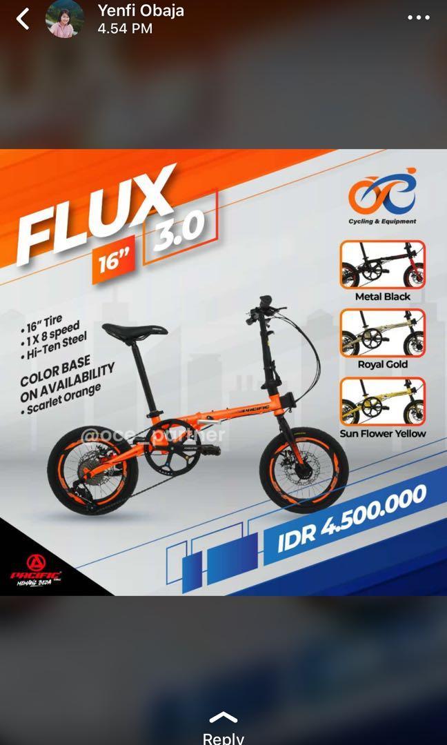 "Sepeda Lipat Pacific FLUX 3.0 16"""