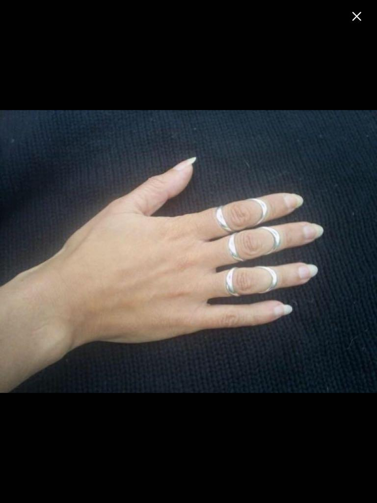 Silver Splint rings -$20'each