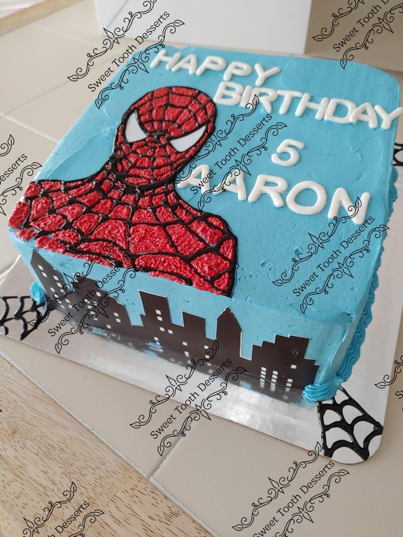 Spiderman square cake