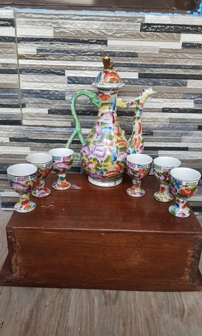Tea set antik cantik