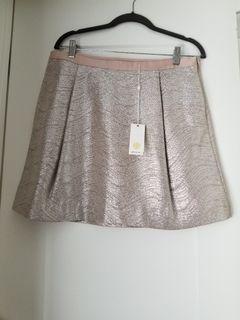 TORY BURCH Kathleen Metallic Skirt