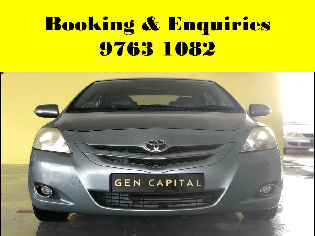 Toyota Vios ! Tuesday cheap and budget car for rent ! Deposit @ $500 only ! Whatsapp 9763 1082 to reserve now !