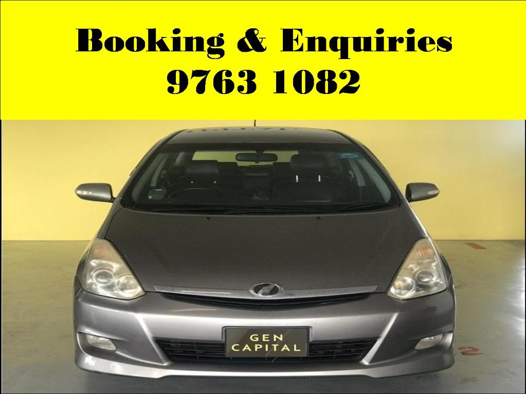 Toyota Wish ! Tuesday cheap and budget car for rent ! Deposit @ $500 only ! Whatsapp 9763 1082 to reserve now !