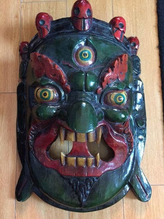 Tribal Wooden Hand Painted Mask