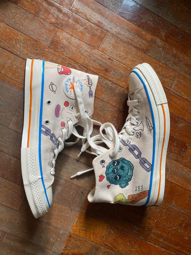 puede Objetor ponerse nervioso  Tyler, The Creator x Foot Locker x Converse Chuck 70 'Artist Series', Men's  Fashion, Footwear, Sneakers on Carousell