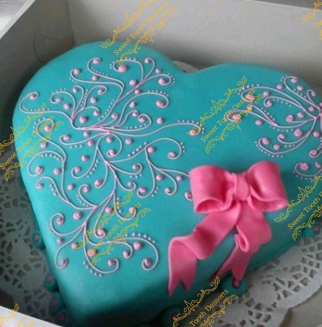 Valentine's day. Heart cake
