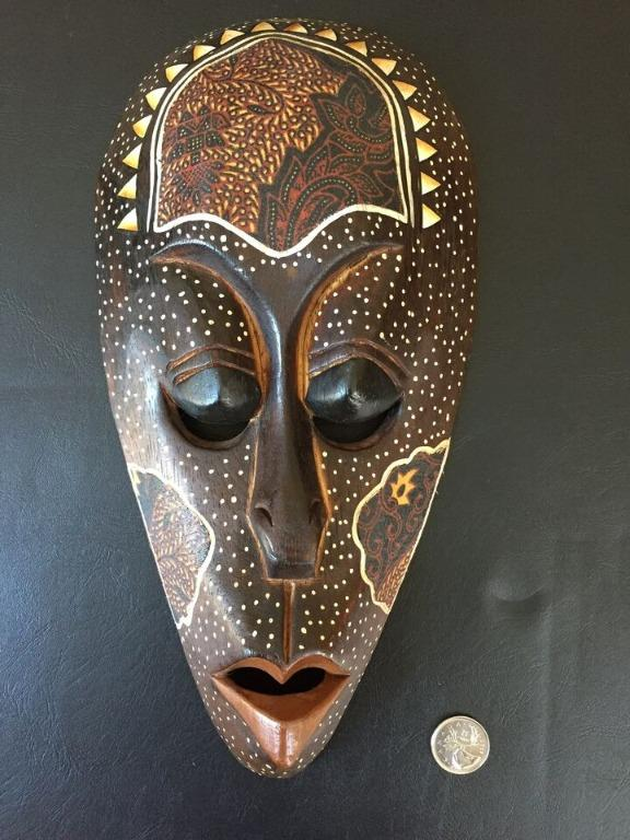 Wooden Hand Crafted Mask Art