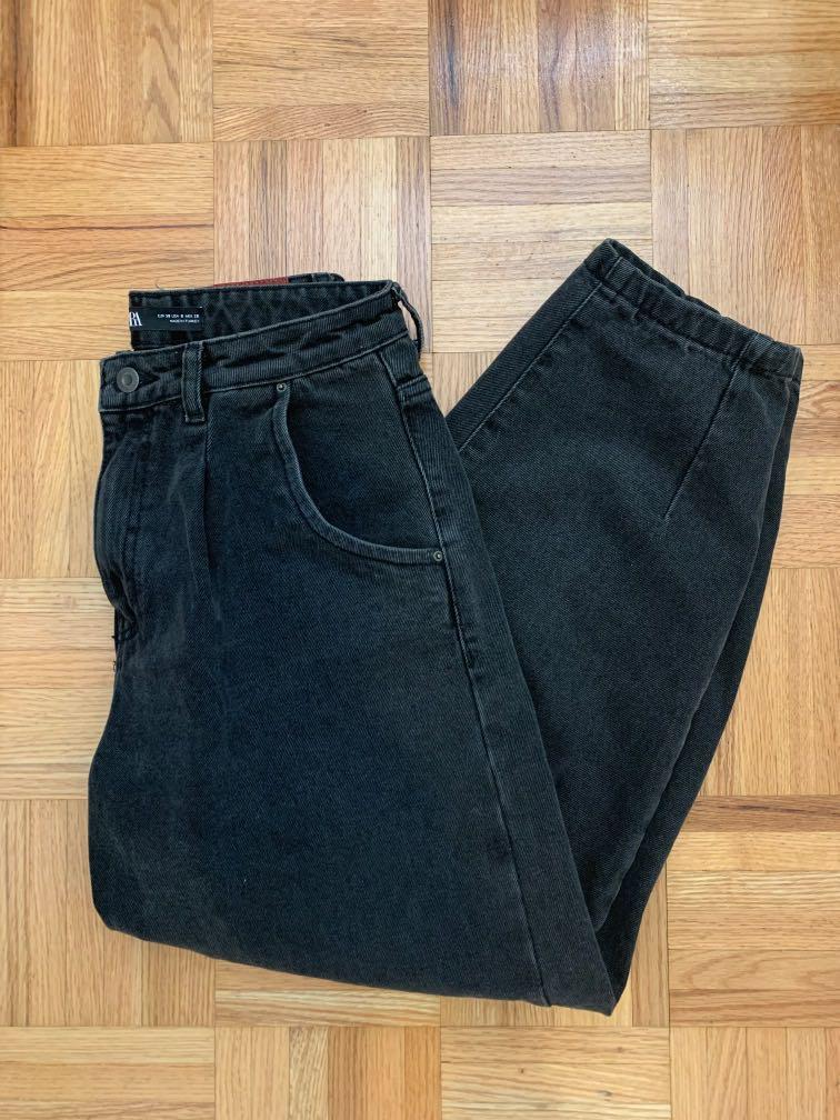 zara grey balloon jeans