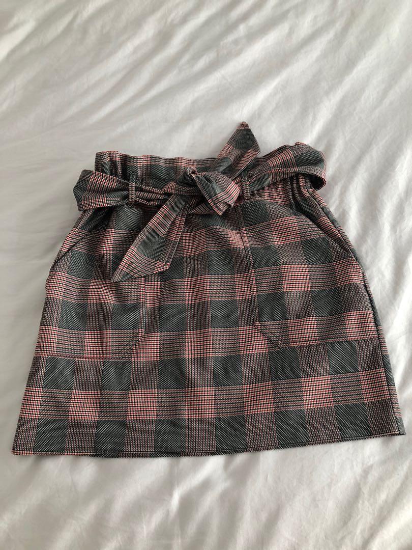 Zara paper bag skirt, size S