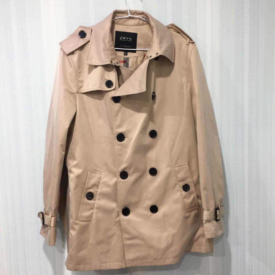 91(5)咖啡色長風衣大衣