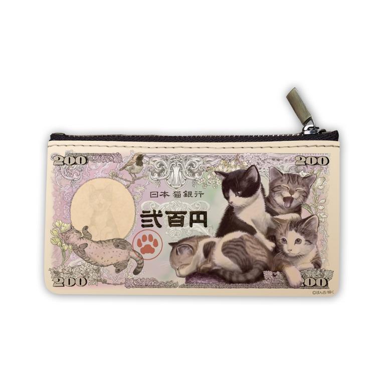 日本大人氣子貓小零錢包