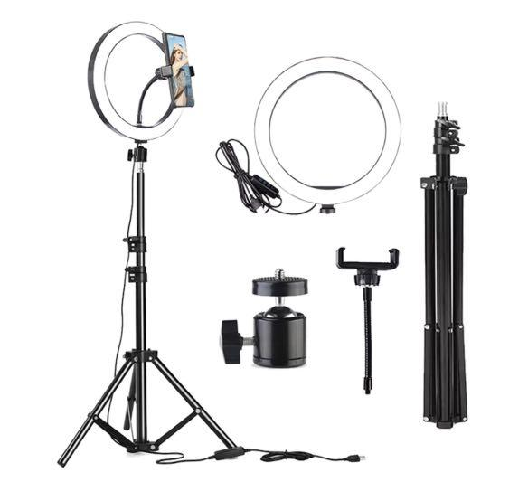 "Brand New 10.5"" Medium Size Ring Light Complete Set"