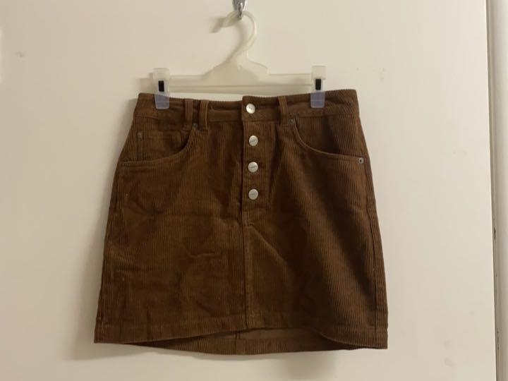 Brown Cord Skirt