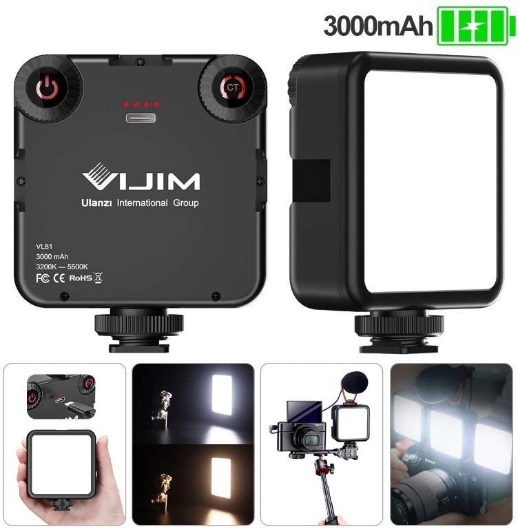 Camera Light, 3000mAh USB-C Rechargeable Pocket Fill Light, 3200-5600K